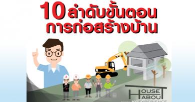 10 ลำดับขั้นตอนการก่อสร้างบ้าน